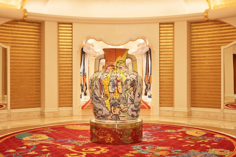 The collection of rare art pieces presented at the Wynn Palace is valued at around $200 million.
