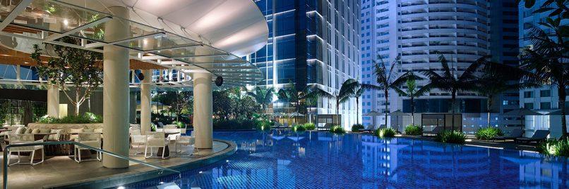 Grand Hyatt Kuala Lumpur's Poolside restaurant is on level two of the hotel.