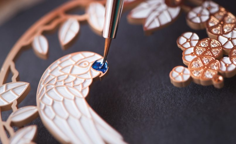 The micro-painting and enamelling process.