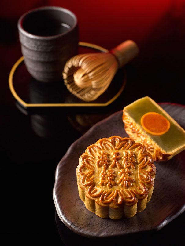 Hai Tien Lo - Pan Pacific Singapore - Green Tea Paste with Single Yolk (NEW) copy