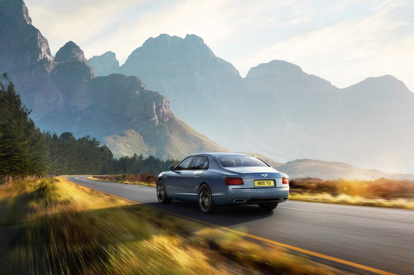 Bentley-Flying-Spur-W12-S-rear-three-quarter-in-motion-1