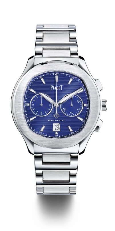 We love ourselves a man in steel, especially one with a true blue dial like this.