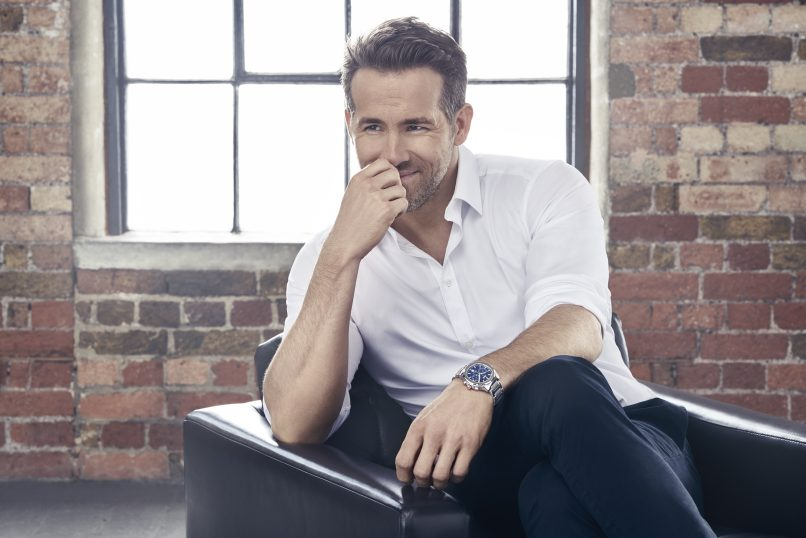 Hunky Ryan Reynolds is one of the chosen men to wear a Piaget Polo S and represent his country, Canada.