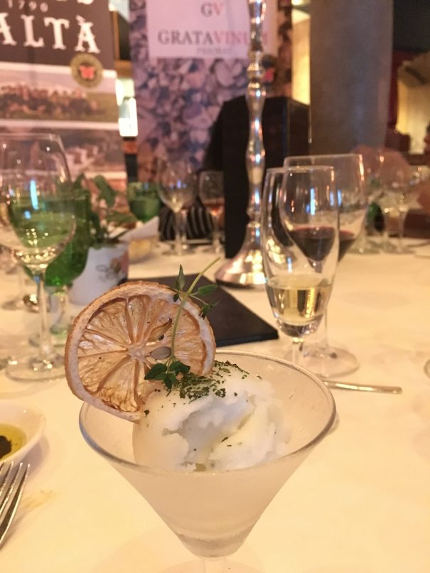 The lemon thyme sorbet is by far, one of our favourite palate cleansers.