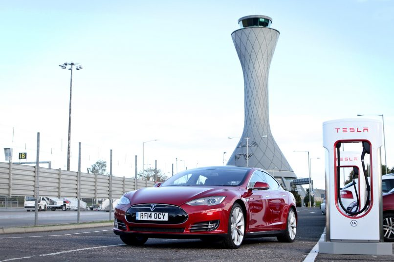 Tesla Supercharger Edinburgh Airport