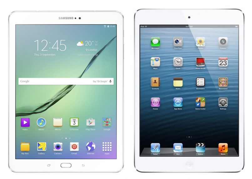 The Galaxy Tab S2 v. iPad Air 2.