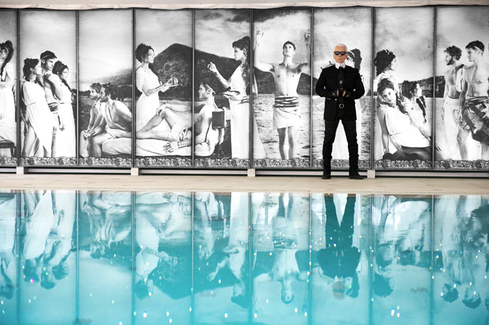 Lagerfeld has previously redesigned the pool area for Hotel Metropole Monte-Carlo.