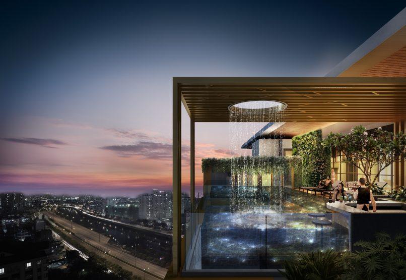 Sky Infinity Pool with Rain Curtain_