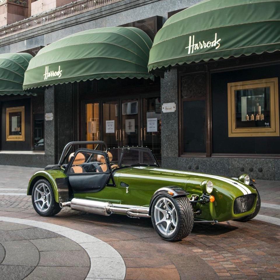Caterham Hotels: British Legends: Caterham Signature Seven Harrods Special