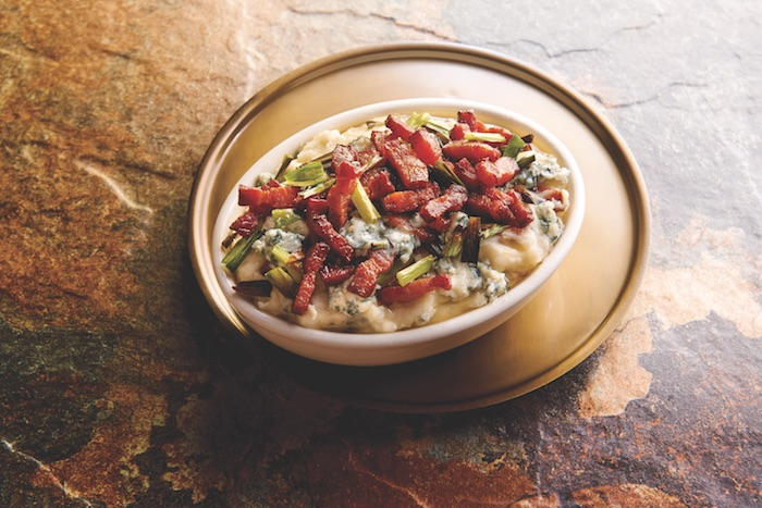 Blue Cheese Mashed Potatoes with Nueske's Bacon