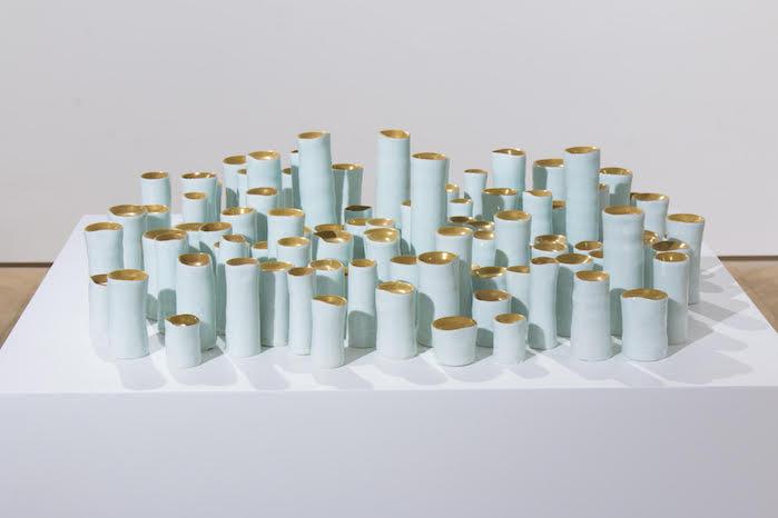 Yin Xiuzhen Lachrymal Instrument No.1, 2016 Porcelain, gold
