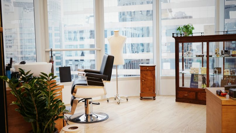 The barbershop at Attire House is a partnership with Seoul's hip men's grooming establishment, HERR