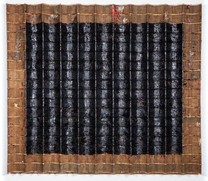 H Gallery - Memory, 2016, Bamboo, rattan, wire, burlap, plastics, beeswax, damar crystal, 171x150x11cm