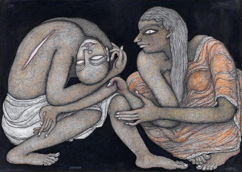 CHULA - Jogen Chowdhury, Compassion, 2006_Mixed media