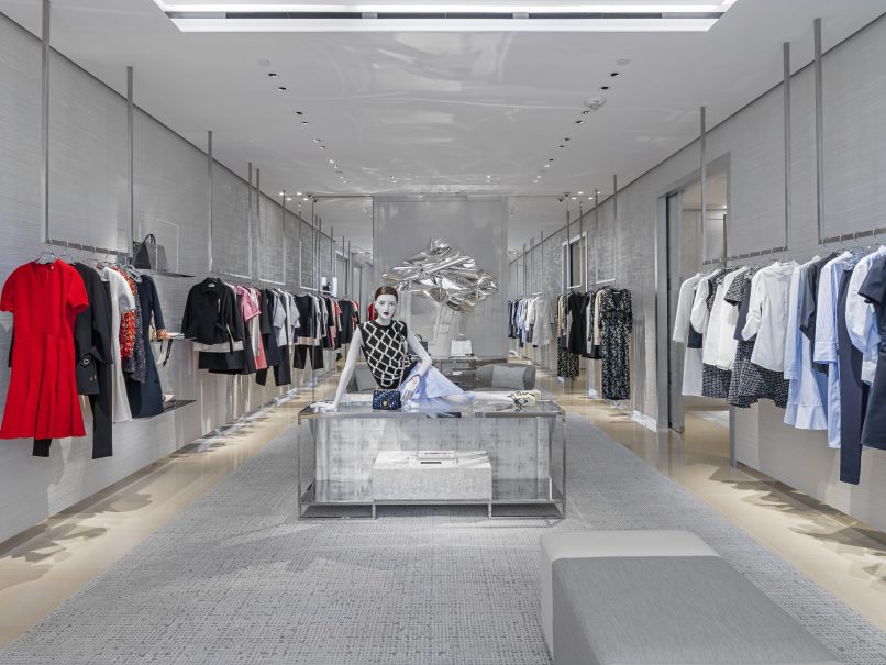 The ready-to-wear area
