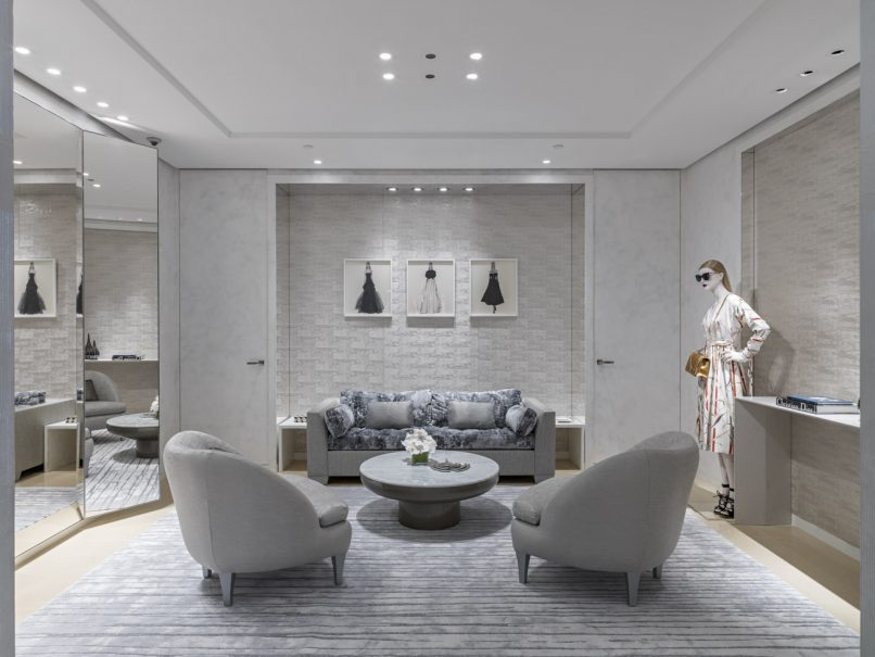 Deeper into the boutique, this is the VIP area where the fitting room is.