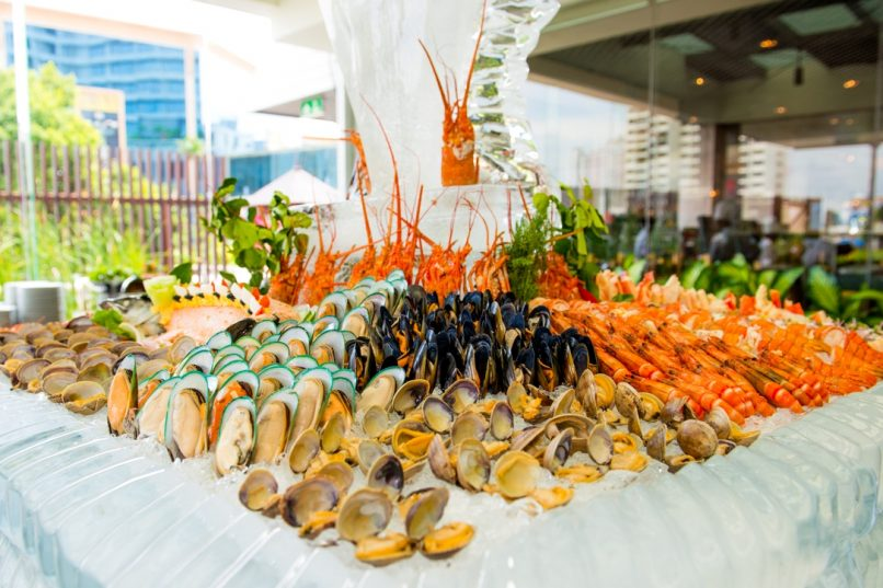 The seafood tower at Feast.