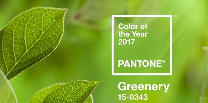 pantone - greenery