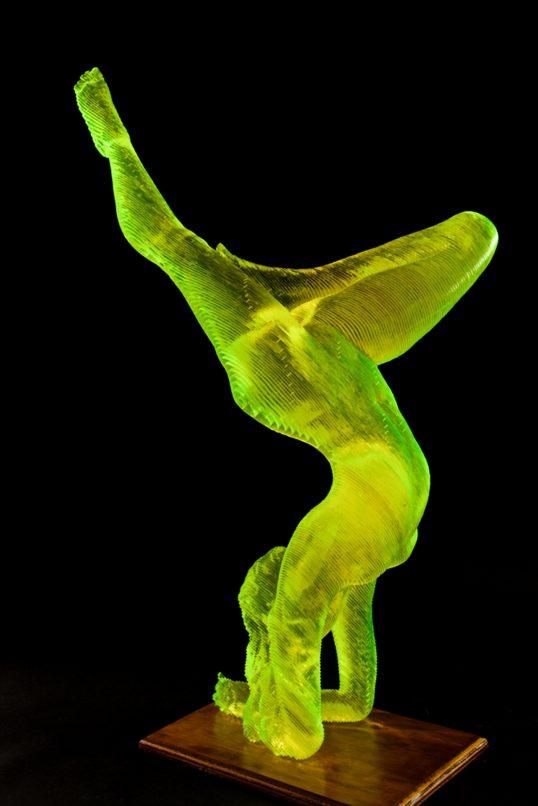 LaLantaFineArt_Olivier-Duhamel-Nude-Yoga-Girl_acrylic-sculpture_16x40x17cm