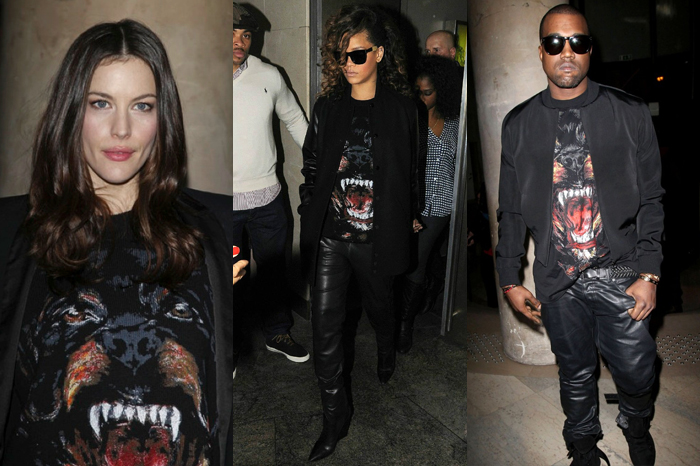 Givenchy's popular Rottweiler T-Shirt by Riccardo Tisci, as seen on Liv Tyler, Rihanna and Kanye West
