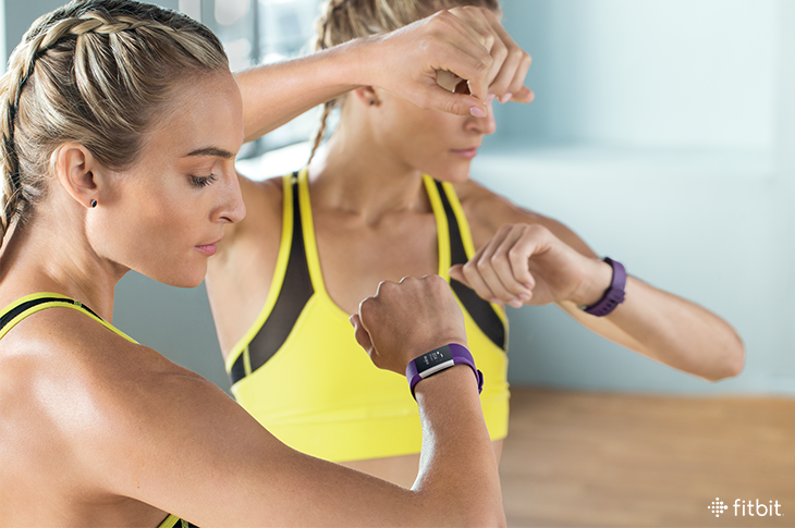 how to use fitbit charge 2 to set workout