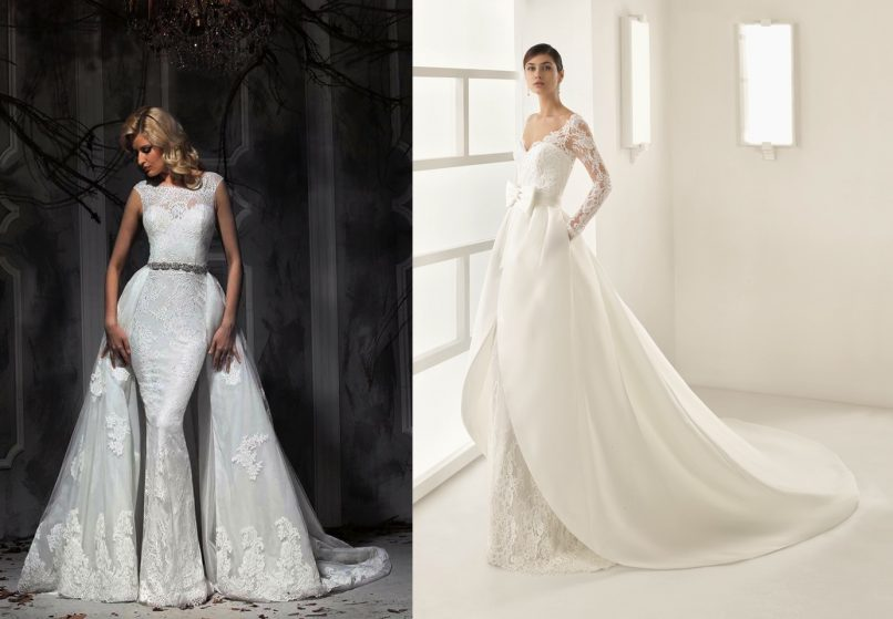 wedding gowns - overskirts