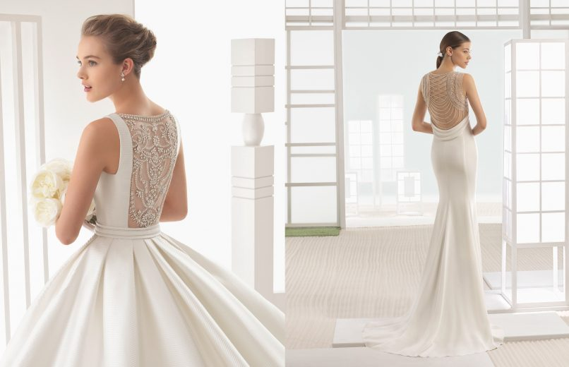 wedding gowns - beaded backs