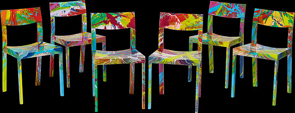 damien hirst spin chairs