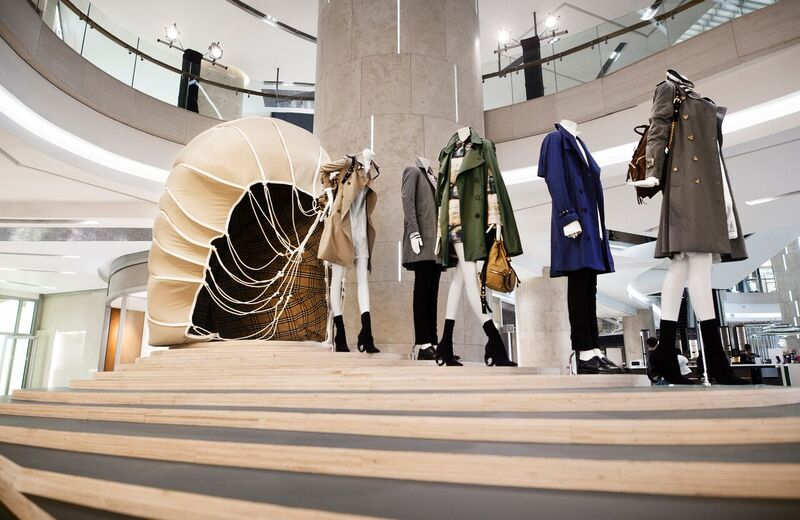 burberry trench coat exhibition ion orchard