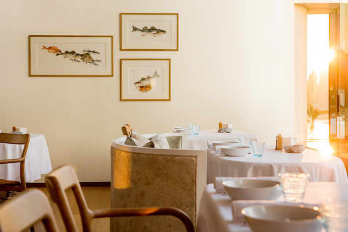 Rech by Alain Ducasse fish paintings