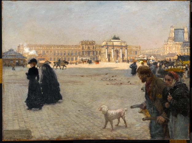 "Giuseppe De Nittis, ""The Ruins of the Tuileries Palace in 1882"""