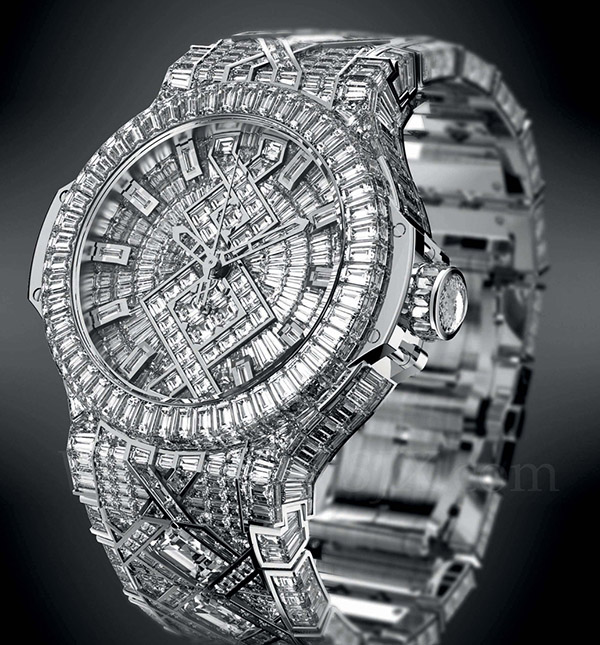 hublot big bang diamond-encrusted watch beyonce