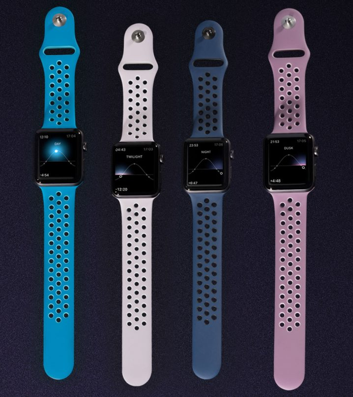 """Nike """"Day to Night"""" VaporMax Flyknit Apple Watch bands"""
