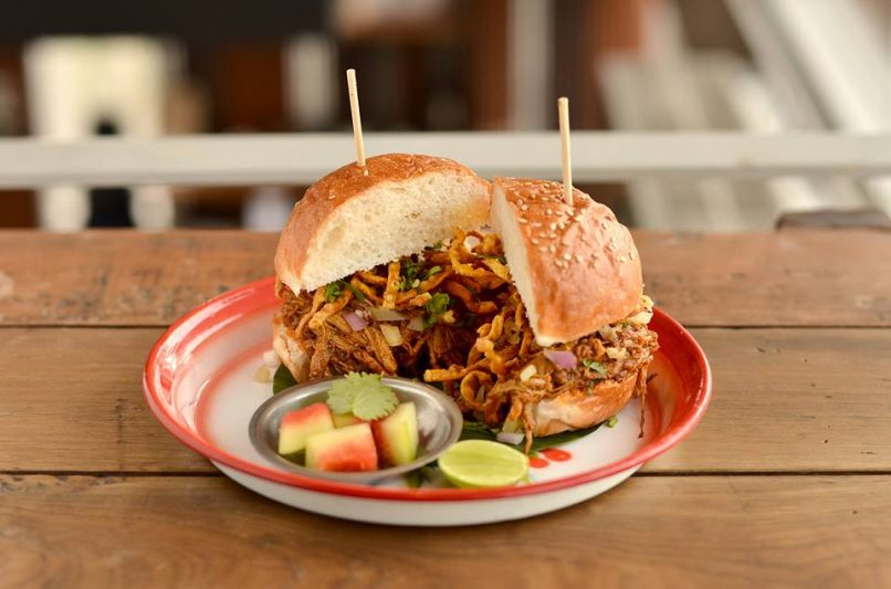 Khao soi burger, The Commons and 72 Courtyard, Soul Food 555
