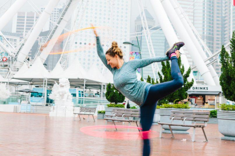 Fitspiration - Emma Brown Hula Hoop Turning Circles
