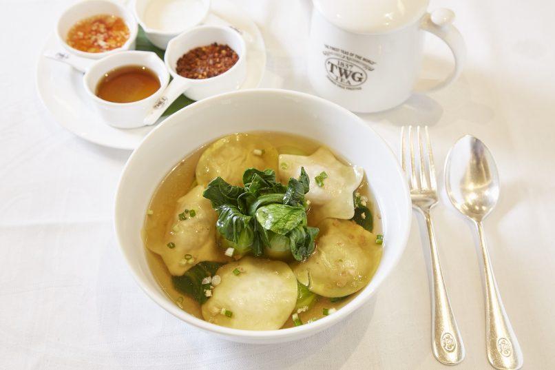 Crustacean wonton soup, TWG Tea