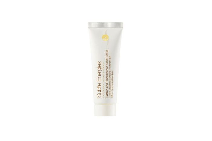 ayurveda aromatherapy - Subtle Energies skincare - saffron frankincense exfoliating cream