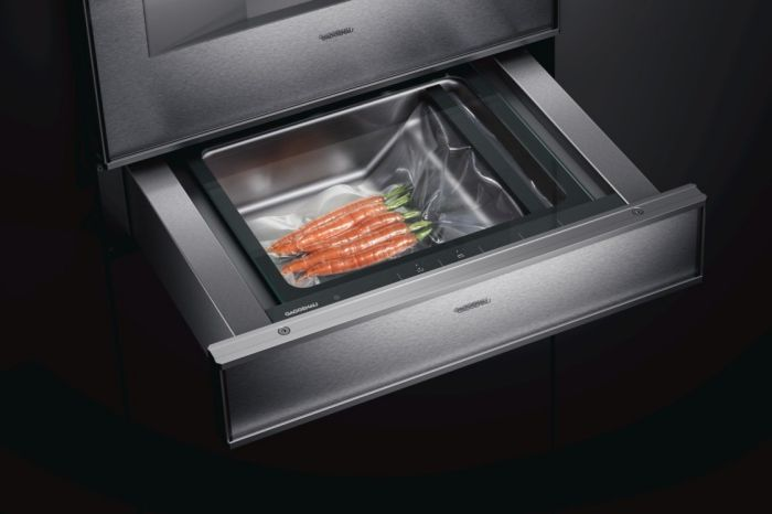 KI Cubus Showroom Gaggenau Sous Vide vacuum drawer