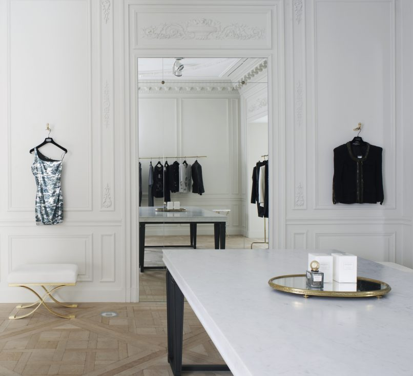 balmain couture house paris