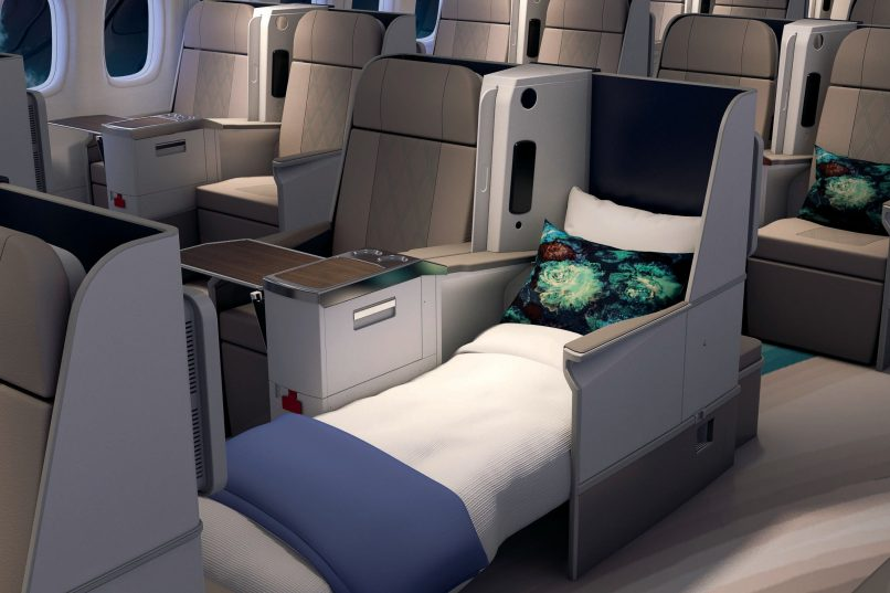 Crystal AirCruises - 180-degree reclining seat beds