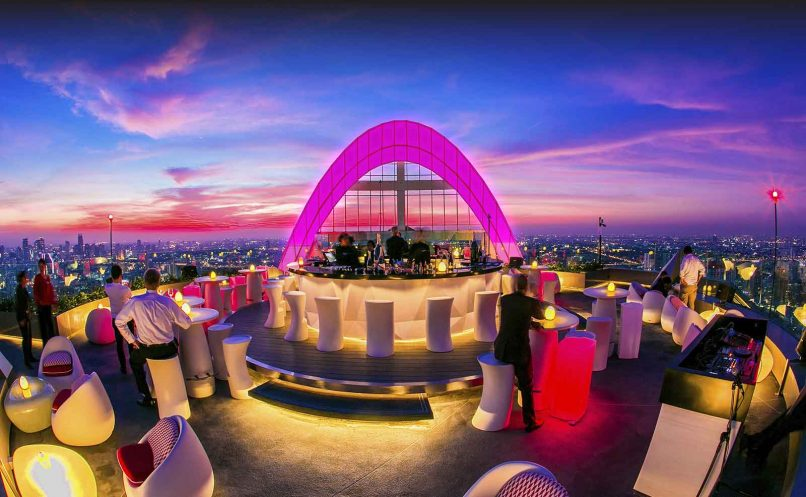 CRU Champagne Bar rooftop bars Bangkok