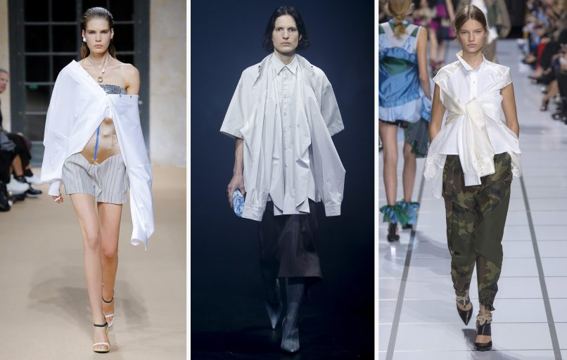 repurposed shirt spring 2018 trends