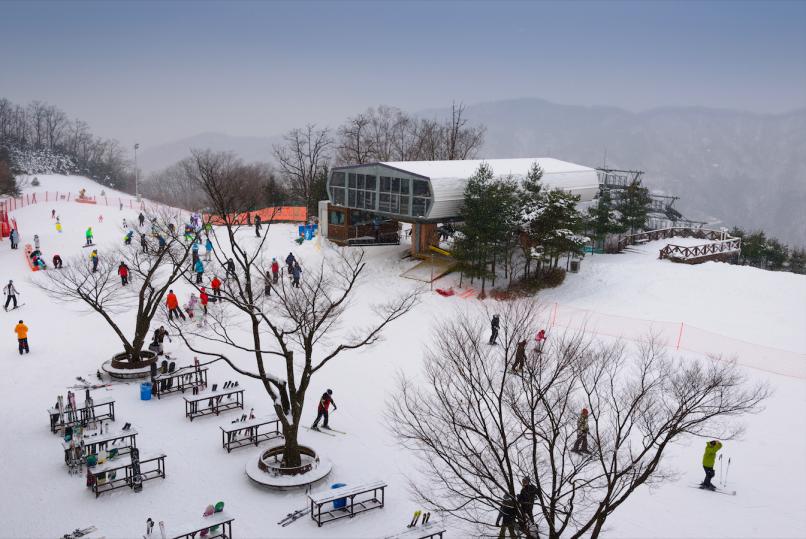 Ski resorts in South Korea