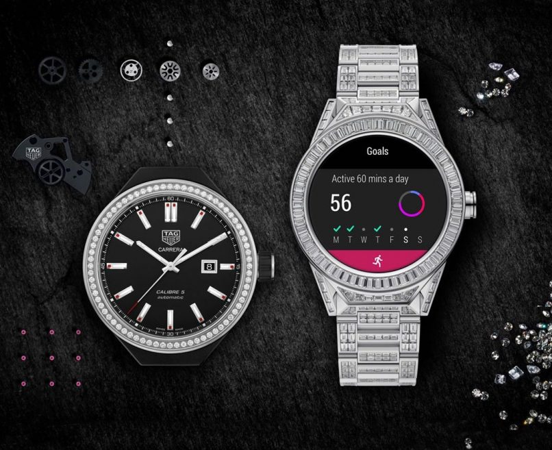 diamond-encrusted smartwatch