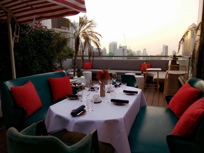 alternative valentine's day date ideas - on dining rooftop