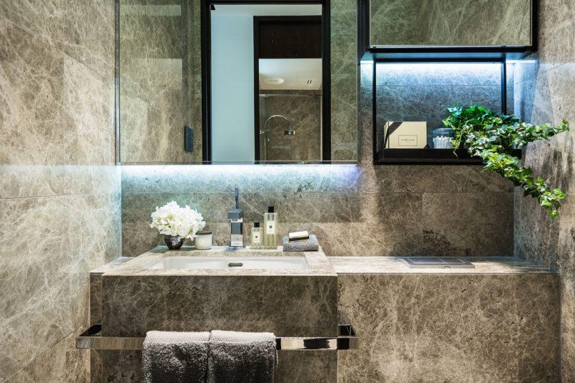 swanky hotel bathroom