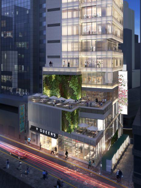 H Queen's - balconies