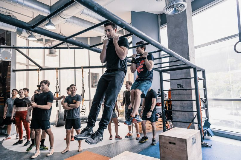 Monkey bars at The LAB gym