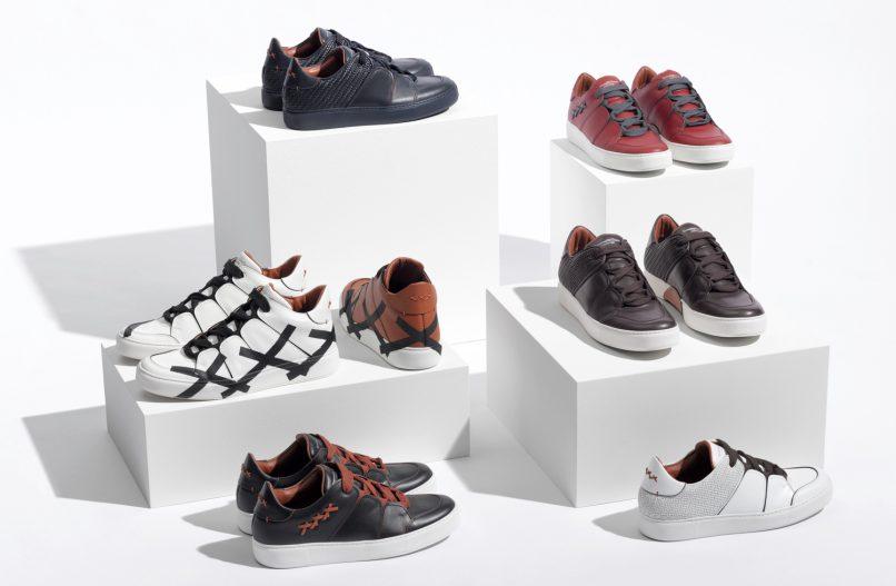 tiziano sneakers pelle tessuta