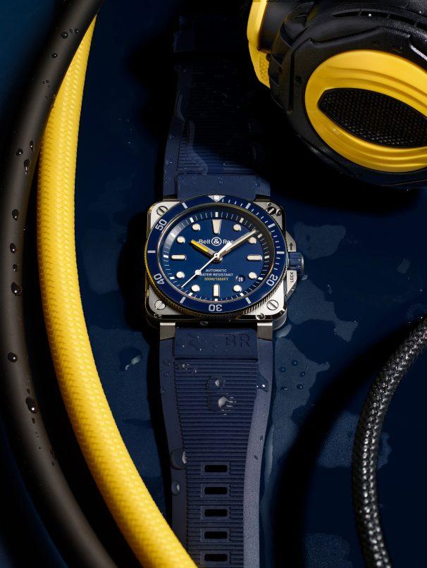 bell & ross br03-92 diver blue